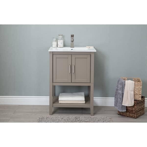 Shop 24in Bathroom Vanity In Gold Gray With Ceramic Top Overstock 20568337,Paper Shredder Reviews Nz
