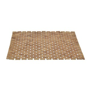 Evideco Bath Mat Bamboo Slats Roll-Up Foldable Shower Rug - 20 x 32