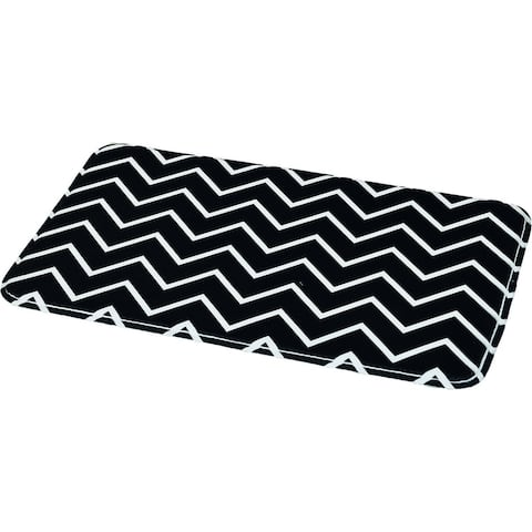COLLECTION Zigzag Printed Microfiber Mat Bath Rug