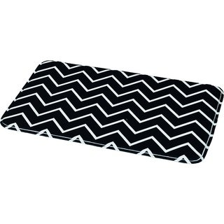 Evideco Collection Zigzag Printed Microfiber Mat Bathroom Rug