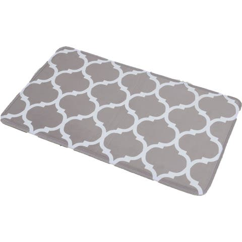 COLLECTION Escal Printed Microfiber Mat Bath Rug
