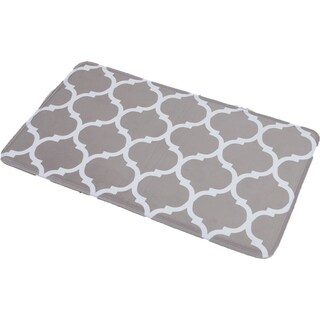 Evideco Collection Escal Printed Microfiber Mat Bathroom Rug