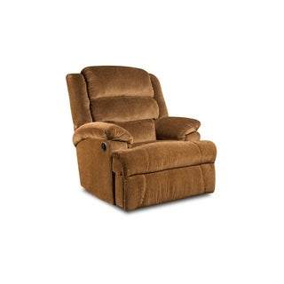 Aldershot Big and Tall Rocker Recliner (Gold/ Rust/ Grey)