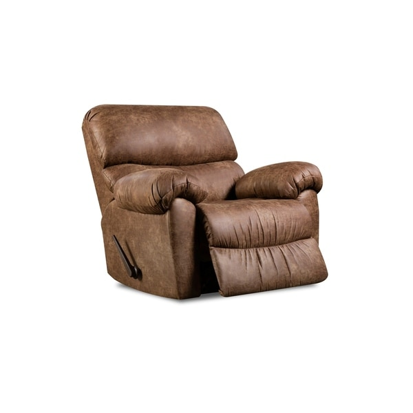 Laredo Brown Leather Dining Chair: Shop Laredo Faux Leather Rocker Recliner (Brown/ Grey