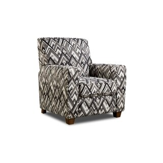 Brighton Chic Chevron Recliner (Grey and White/ Red and Gold)