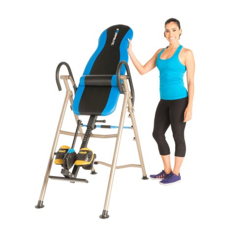 EXERPEUTIC 225SL Inversion Table with AIR SOFT No Pinch Ankle Holders - Blue