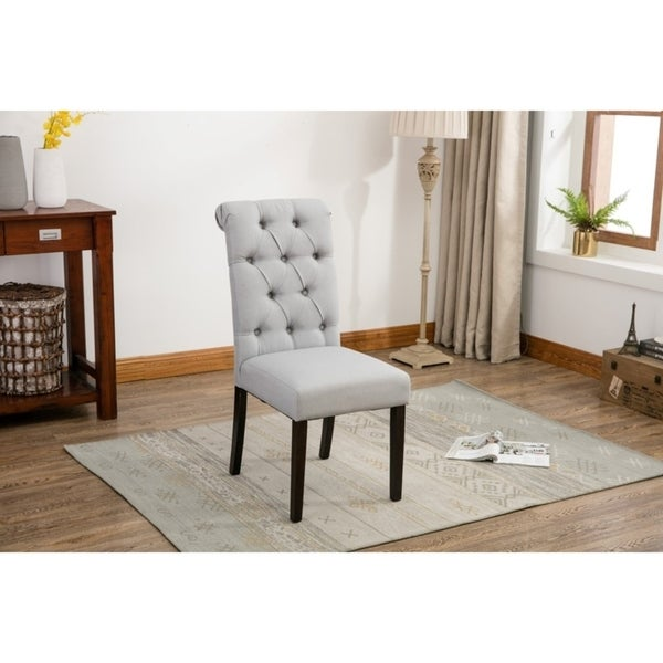 Charmant Porthos Home Button Tufted Parson Style Dining Or Side Chairs,Set Of 2
