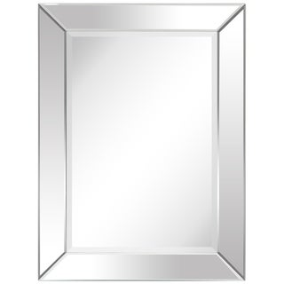 Modern Beveled Rectangular Wall Mirror,Bathroom,Bedroom,Living Room,Ready to Hang - 30 in. x 1.24 in. x 40 in.