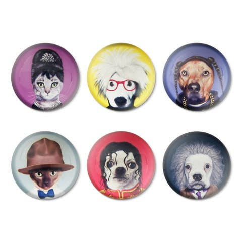 Empire Art Magnets - set of 6 Pets Rock Characters in Gift Box - sold in sets of 2 boxes