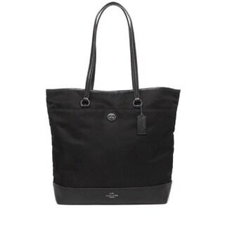 Coach 57903 Leather and Nylon Tote Black