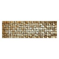"""Textured 2"" Metallic Handed Painted Rugged Wooden Blocks Wall Décor"