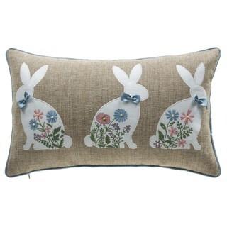 """Spring Bunny Lumbar Pillow 12"""" x 20"""""""
