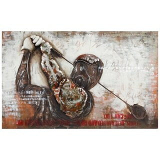 """Golf"" Mixed Media Iron Hand Painted Dimensional Wall Décor"