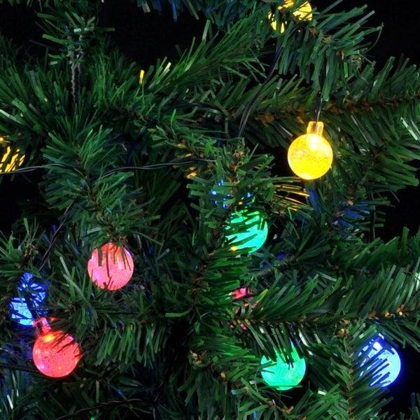 solar lights 20ft 30 led multi color crystal ball fairy lights for garden