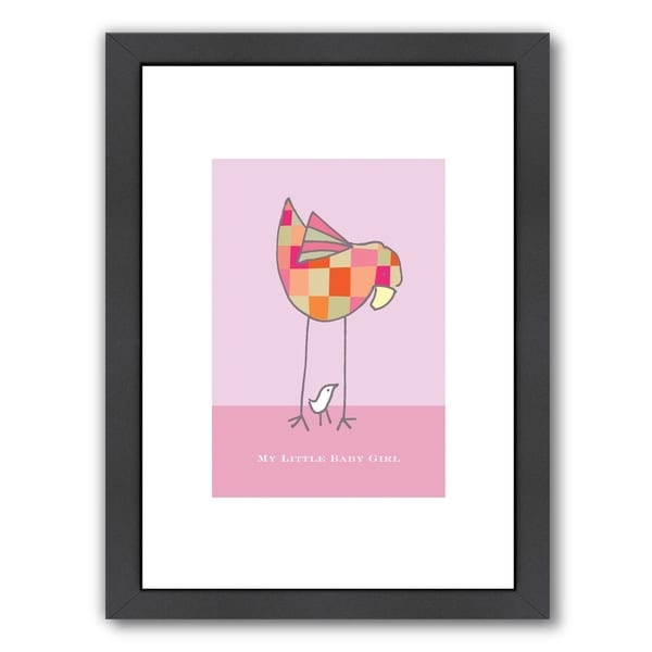 53000c605 Shop Americanflat  My Little Baby Girl  Framed Wall Art - Free ...