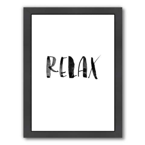 Americanflat 'Relax White' Framed Wall Art