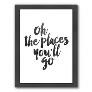 Americanflat 'Oh The Places Youll Go' Framed Wall Art