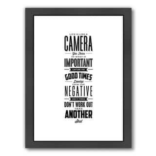Americanflat 'Life Is Like A Camera' Framed Wall Art