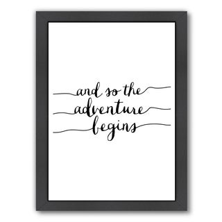 Americanflat 'And So The Adventure Begins' Framed Wall Art (3 options available)