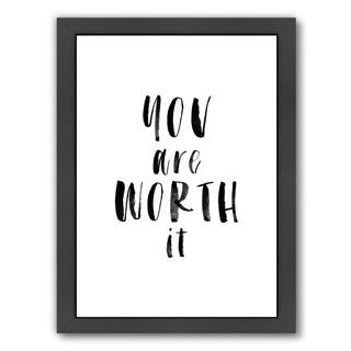 Americanflat 'You Are Worth It' Framed Wall Art