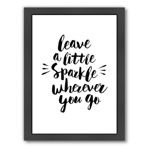 Americanflat 'Leave A Little Sparkle Wherever You Go' Framed Wall Art