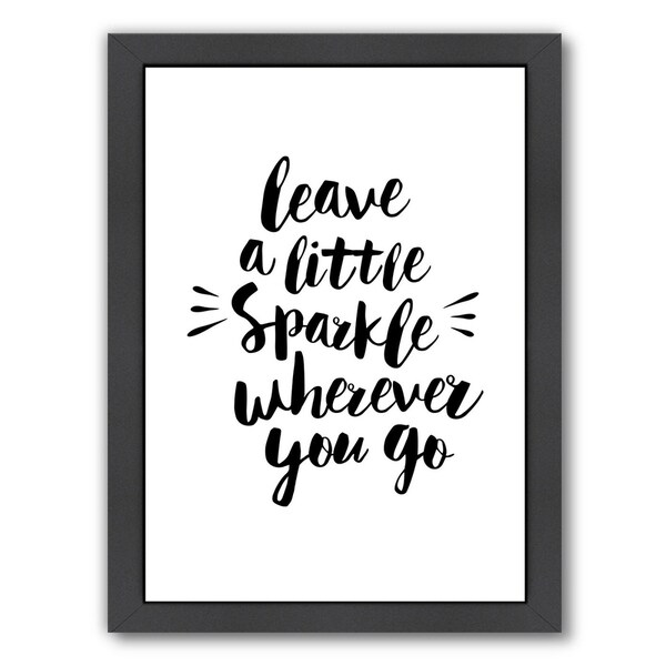 Americanflat 'Leave A Little Sparkle Wherever You Go' Framed Wall Art. Opens flyout.