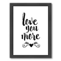 Americanflat 'Love You More' Framed Wall Art