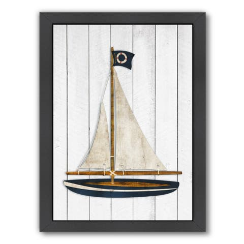Americanflat 'Sailboat' Framed Wall Art