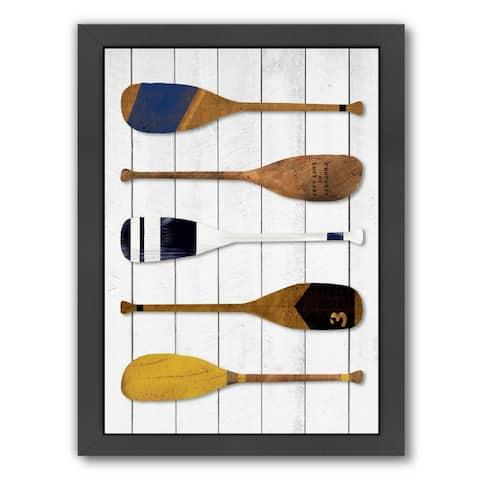 Americanflat 'Oars' Framed Wall Art