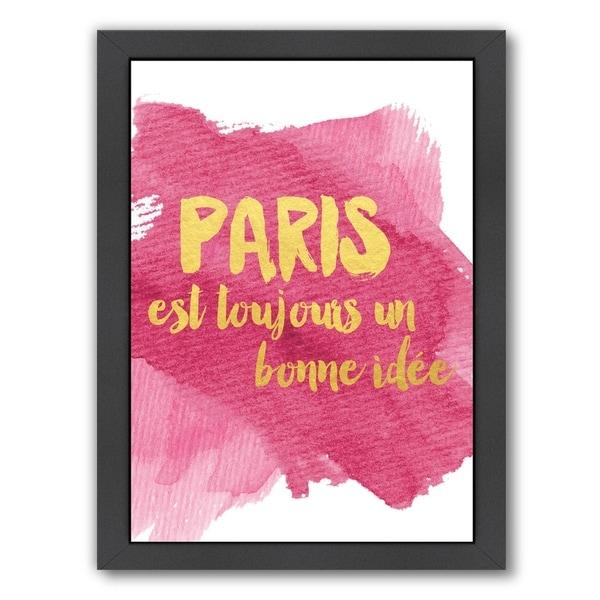 Shop Americanflat \'Paint Swatch Paris\' Framed Wall Art - Free ...