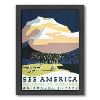 Americanflat 'Vintage See America Montana Travel' Framed Wall Art (3 options available)