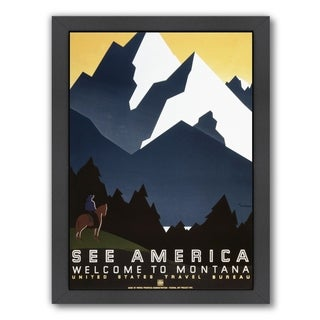 Americanflat 'Vintage Montana Travel' Framed Wall Art (3 options available)