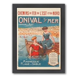Link to Americanflat 'Vintage French Beach Travel Poste' Framed Wall Art Similar Items in Art Prints