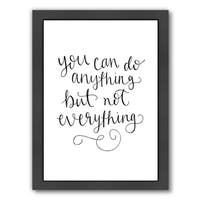 Americanflat 'You Can Do Anything Hand Lettered' Framed Wall Art