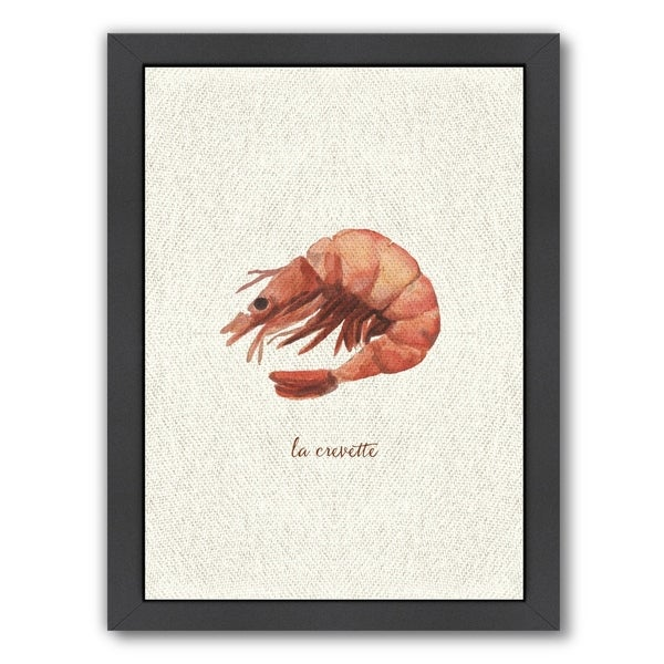Americanflat X27 French Kitchen Seafood Shrimp Framed Wall Art