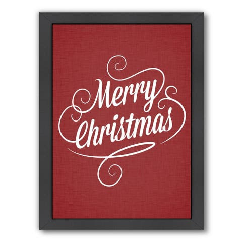 Americanflat 'Merry Christmas Crimson Jpg' Framed Wall Art