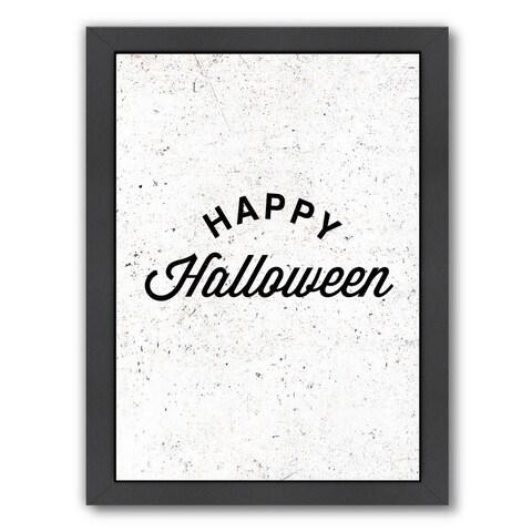 Americanflat 'Happy Halloween' Framed Wall Art