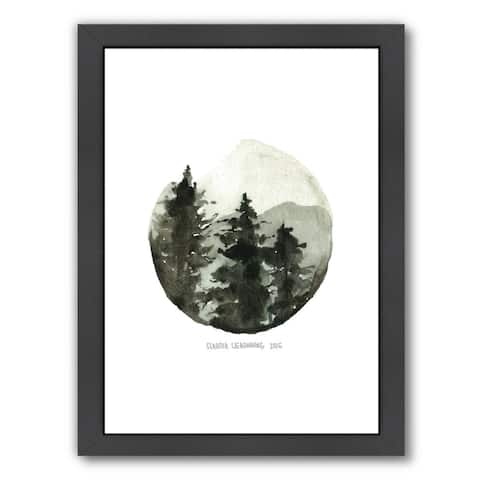 Americanflat 'Brown Mountain' Framed Wall Art