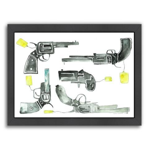 Americanflat 'Pistols' Framed Wall Art
