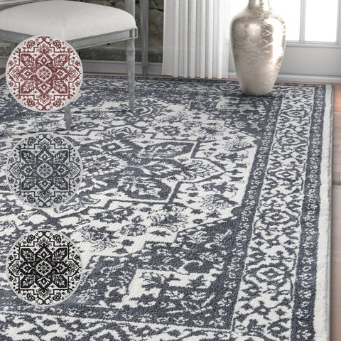 Well Woven Traditional Medallion Soft Area Rug - 5'3 x 7'3