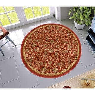Well Woven Transitional Oriental Round Rug - 4'