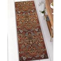 Well Woven Traditional Rustic Brown Runner Rug - 3' x 12'