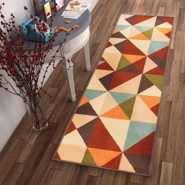 Shop Well Woven Modern Geometric Runner Rug