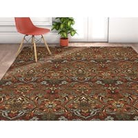 Well Woven Traditional Rustic Floral Brown Area Rug - 7'10 x 9'10