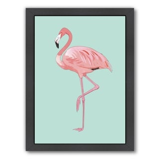 Americanflat 'Pink Flamingo' Framed Wall Art