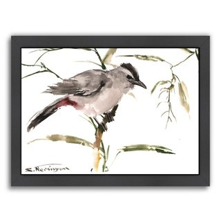 Americanflat 'Grey Cat Bird' Framed Wall Art (3 options available)