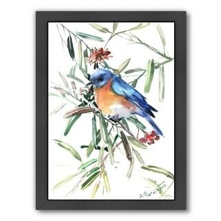 Americanflat 'Blue Bird 2' Framed Wall Art (3 options available)