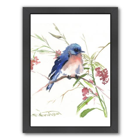 Americanflat 'Blue Bird 8' Framed Wall Art