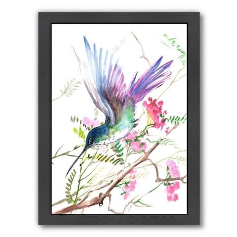 Americanflat 'Hummingbird 15' Framed Wall Art