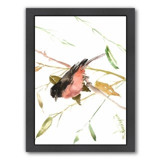 Americanflat 'Eastern Towhee Bird' Framed Wall Art (3 options available)